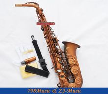 Professional Matte Coffee Alto Saxophone Sax High F# Abalone Shell Key With Case