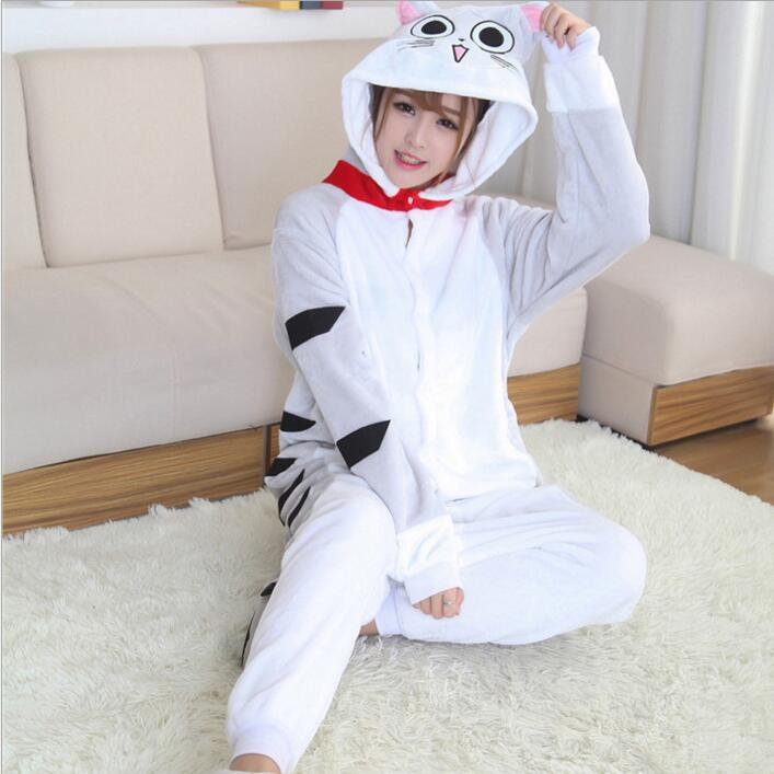 Чеширский кот Onesie пижамы кигуруми животных косплэй костюм семейная Пижама  для женщин Дети для 8325c6dcb9b45