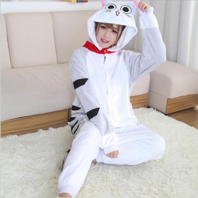 Чеширский кот Onesie пижамы кигуруми животных косплэй костюм семейная Пижама  для женщин Дети для 8d07f38027a24