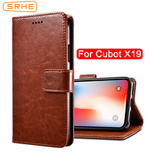 SRHE For Cubot X19 Case Cover Flip Luxury Leather With Magnet Wallet X 19
