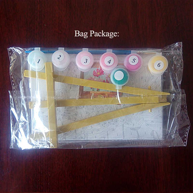 لوحة صور صغيرة ذاتية الصنع بواسطة أرقام حامل سبونجبوب لديكور المنزل للأطفال لوحة زيتية لغرفة نوم الأطفال هدايا للأولاد