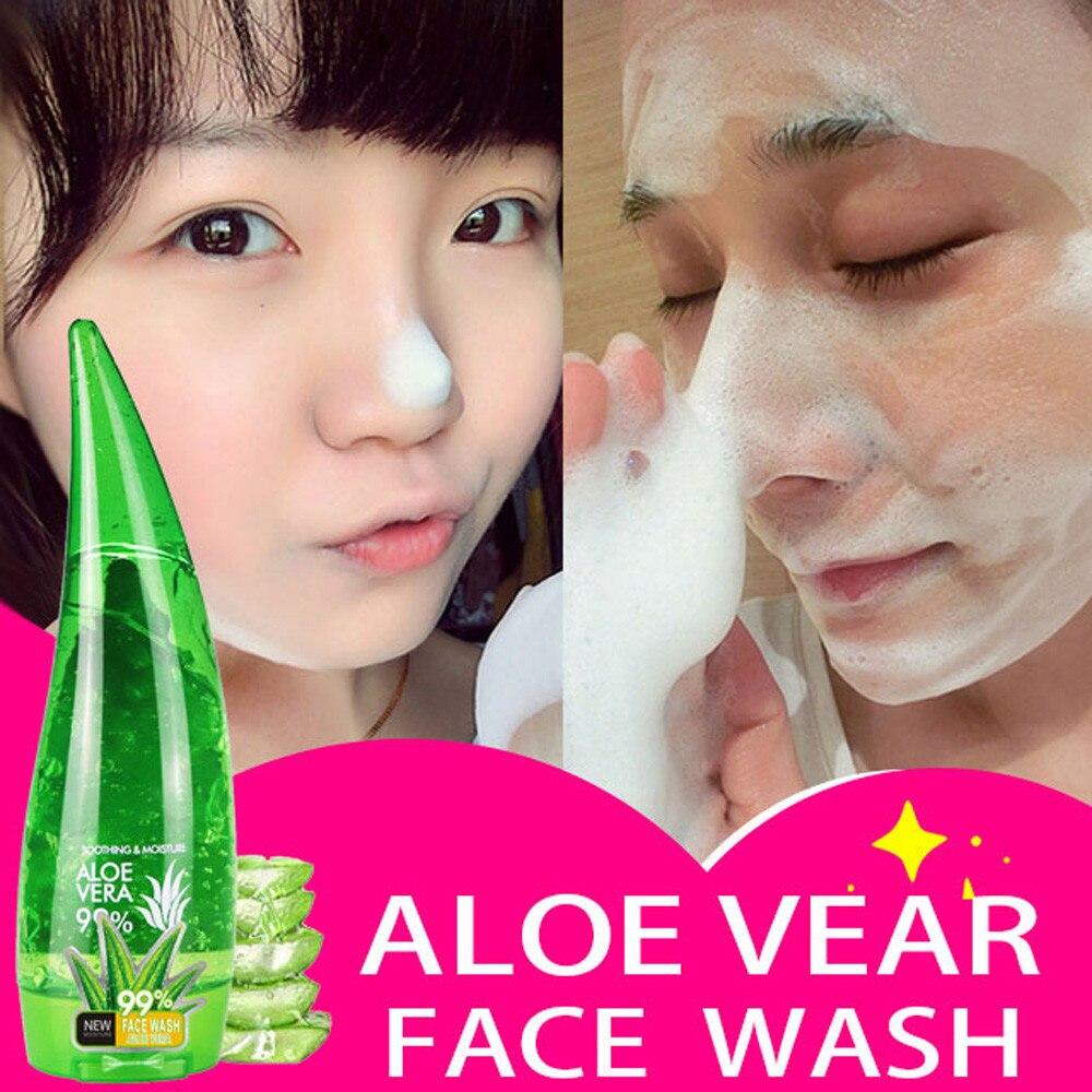 Aloe Vera Gel Pore Terminator Cleansing Foam Moisturizing Moisturizing The Skin Smooth Facial Cleanser Remove Blackhead Wash