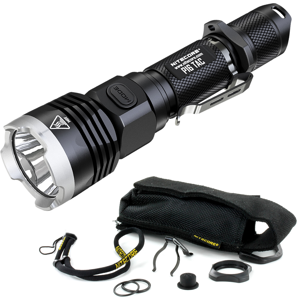 sale Nitecore P16TAC 1000Lm CREE XM-L2 U3 LED Tactical Flashlight Without 18650 Battery Hunting Search Waterproof Portable Torch origial jetbeam rrt 2 cree u2 led tactical flashlight for camping hunting hiking fishing bicycle tactical torch w 18650 battery