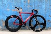 Crosstar Tyrans T2 Fixed Gear Bike Urban Track Bike Fixie Trispoke 3 Spoke Wheel 90mm RIM