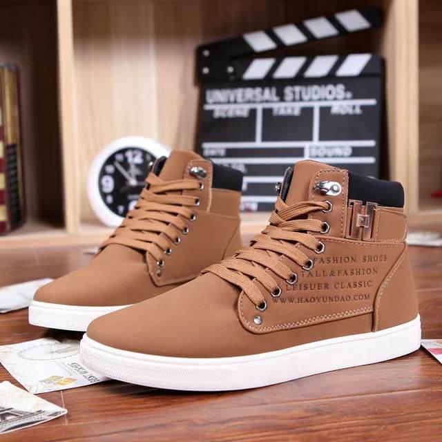 2016 новые поступления мода PU ботильоны теплые мужчины сапоги зимняя обувь