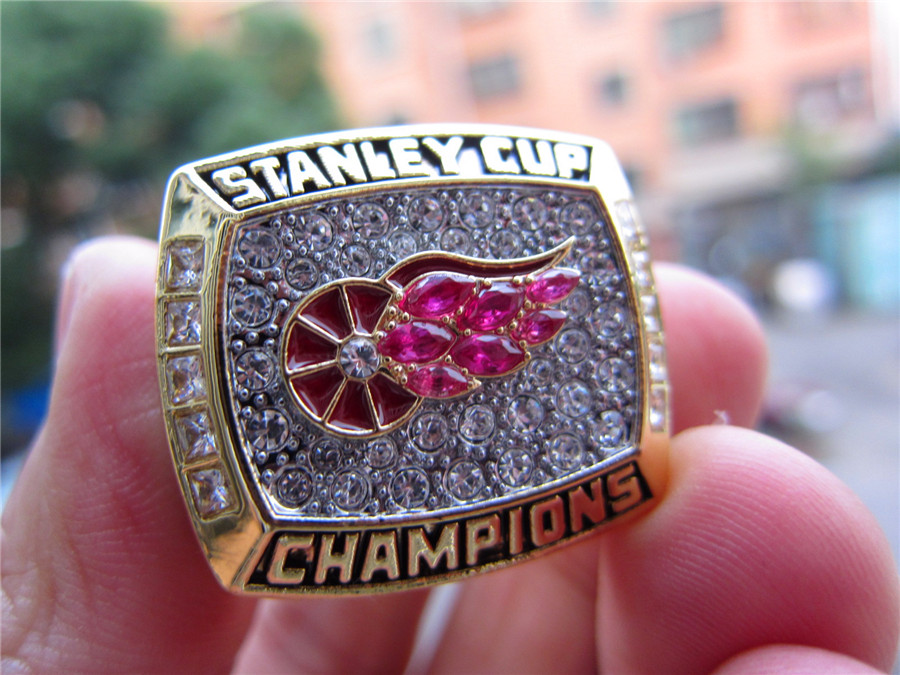 Drop Shipping 1998 Detroit Red Wings Stanley Cup Championship Ring With Wooden Display Box Fan Men