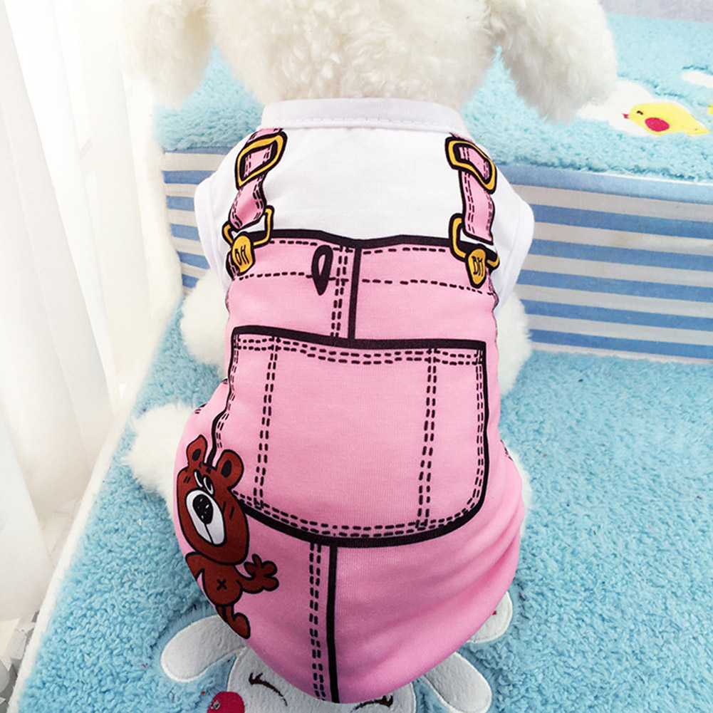 Pet Dog Cat Vest Shirt Spring Summer Dog Clothes Cotton Funny Pets Costumes Clothing Clothes for Small Middle Large Dogs T-shirt