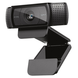 Веб-камера Logitech HD Pro C920e, широкоформатный видеозвонок и запись, камера 1080 p, веб-камера для настольного компьютера или ноутбука, обновленная в...