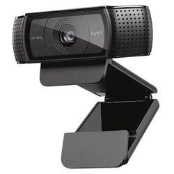 Cámara web C920e Logitech HD Pro, grabación y llamada de vídeo panorámica, cámara 1080 p, escritorio o Webcam para ordenador portátil, versión mejorada C920
