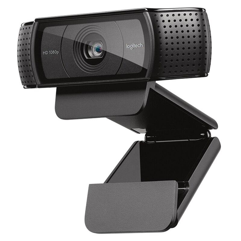 Cámara web Logitech HD Pro C920e, llamada y grabación de vídeo panorámica, cámara 1080 p, ordenador portátil o de escritorio Webcam C920 versión de actualización