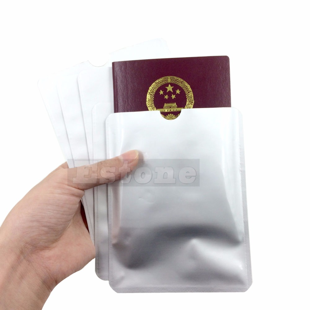 NEW Secure Sleeves Passport Holder Blocking Protector Case Shield Safely Travel Storage Bag ID Card Cover Storage Tool Kit