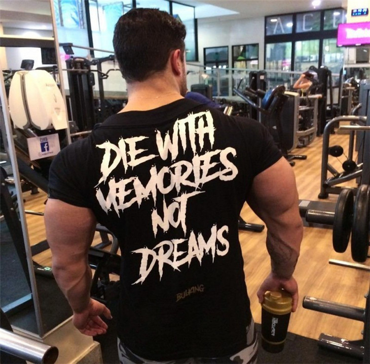 Men Short Sleeve Cotton T-shirt Summer Casual Fashion Gyms Fitness Bodybuilding T shirt Male Slim Tees Tops Clothing 32