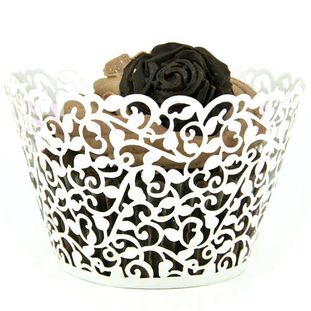 Wedding Style Cupcake Wrappers 12 pcs/set