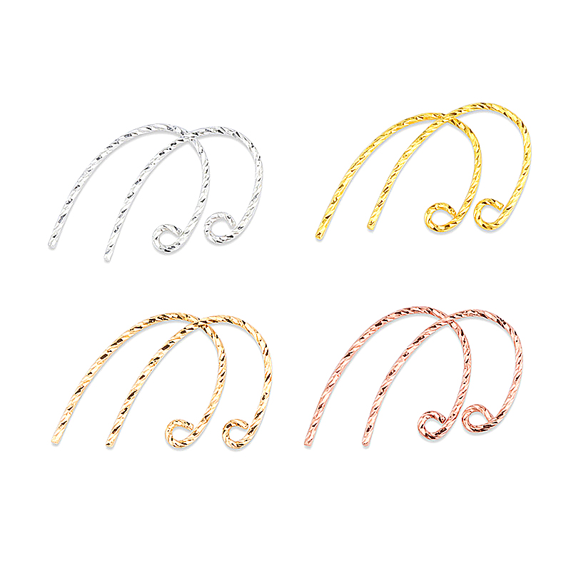 S925 Sterling Silver Golden/silver/rose Gold Findings Earring Hooks Clasp Accessories For Jewelry Making Wholesale Parts 1pair