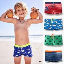 Коллекция года, крутые Красивые шорты для купания для маленьких мальчиков одежда для купания летний купальный костюм пляжные плавки шорты в полоску со звездами