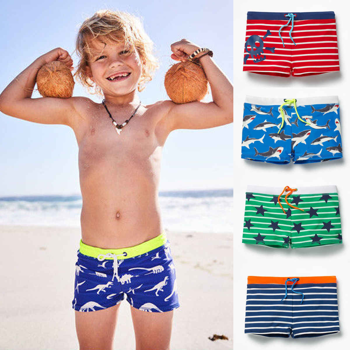 b5605e6227 Cool Handsome Toddler Boy Kid Swimming Shorts Swimwear Summer Beach Swim  Trunks Pants Clothes Striped Star