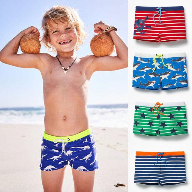 f552ca78b36 Cool Handsome Toddler Boy Kid Swimming Shorts Swimwear Summer Beach Swim  Trunks Pants Clothes Striped Star Shorts