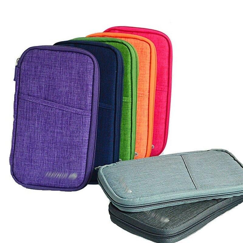 Passport Holder Passport Storage Bags Document Organizer Portable Credit Card Multifunction Cash Holder Travel Functional Bag