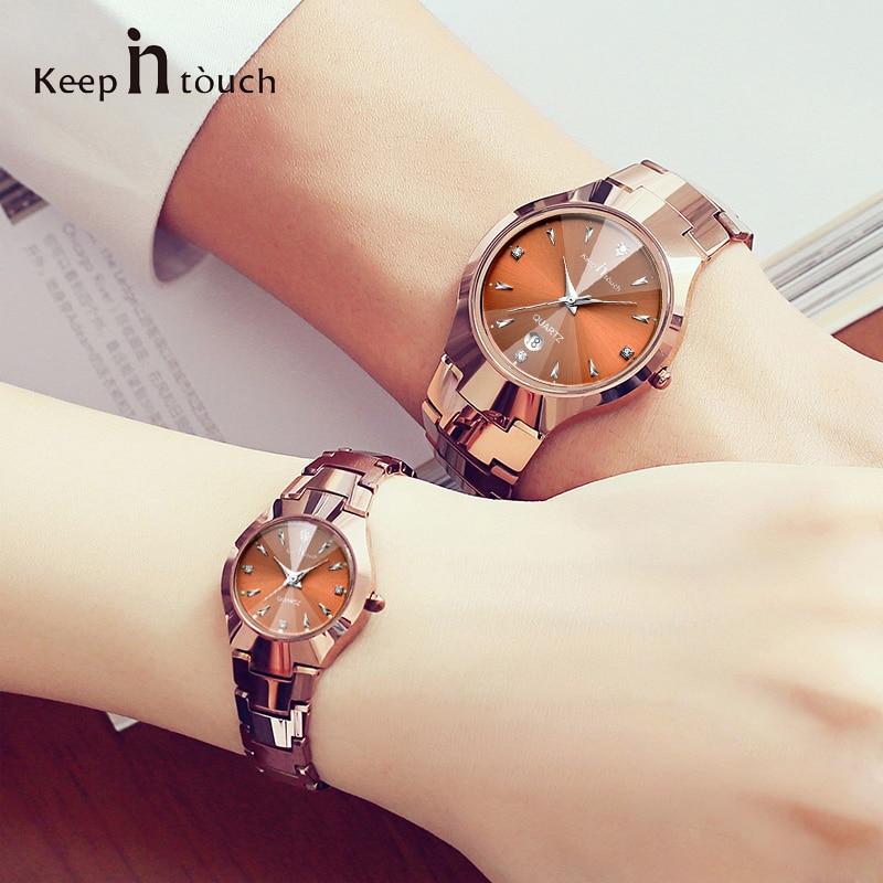 Różowe złoto zegarki kwarcowe kobiety ubierają projektanta - Zegarki damskie - Zdjęcie 1