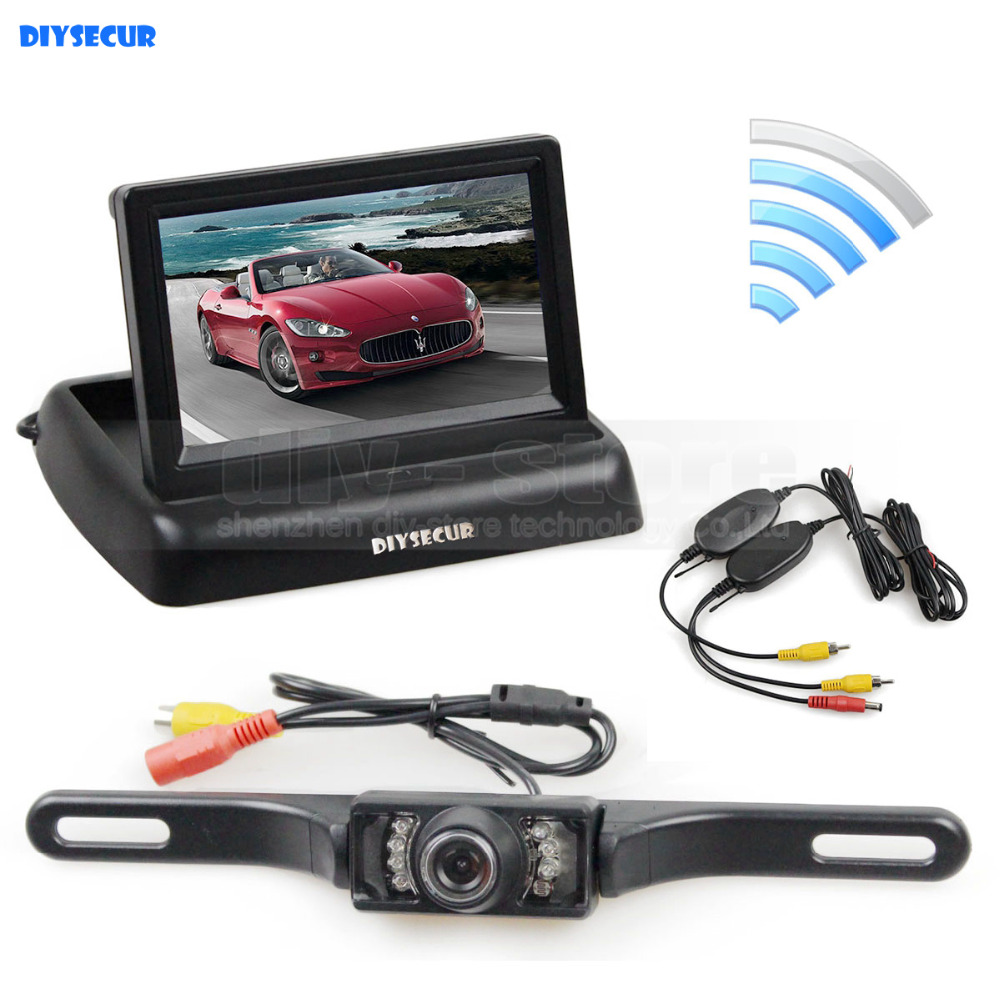 все цены на DIYSECUR Wireless 4.3 Inch Car Reversing Camera Kit Back Up Car Monitor LCD Display HD Car Rear View Camera Parking System