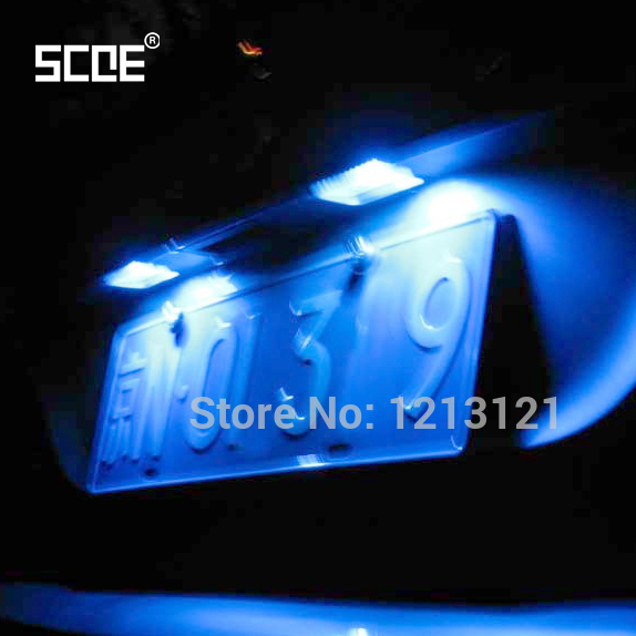 2 pcs SCOE Car Styling 20SMD LED License Plate Light Lamp