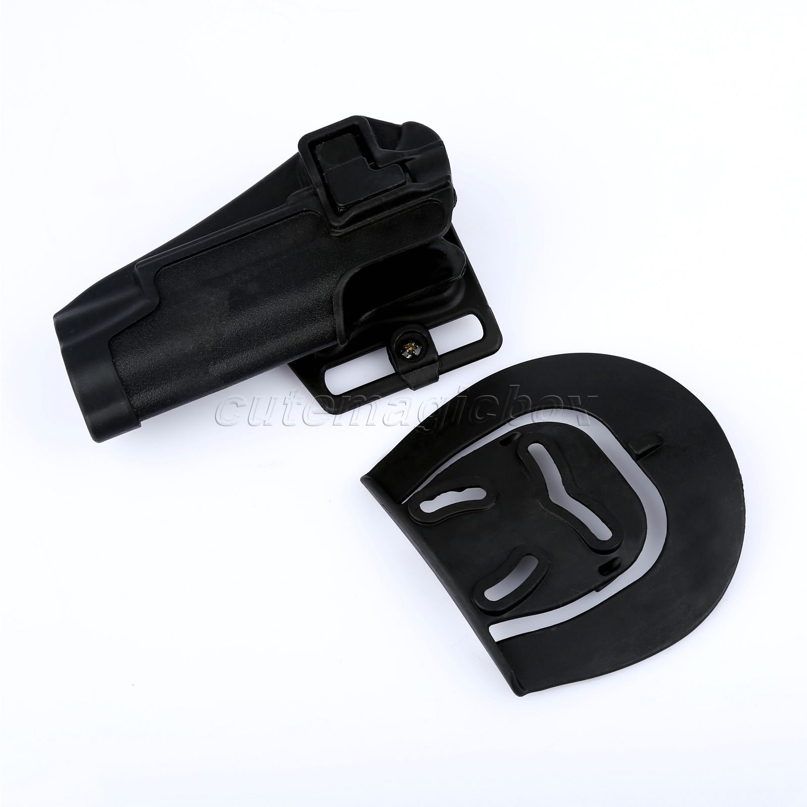 ④Polímero negro dibujo rápido Tactical airsoft mano derecha con ...