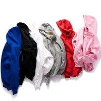 Men Casual Apparel Joggers Workout Sportswear Fleece Hooded Casual Jacket Tops Coats Mens Hoodies Sweatshirts off white