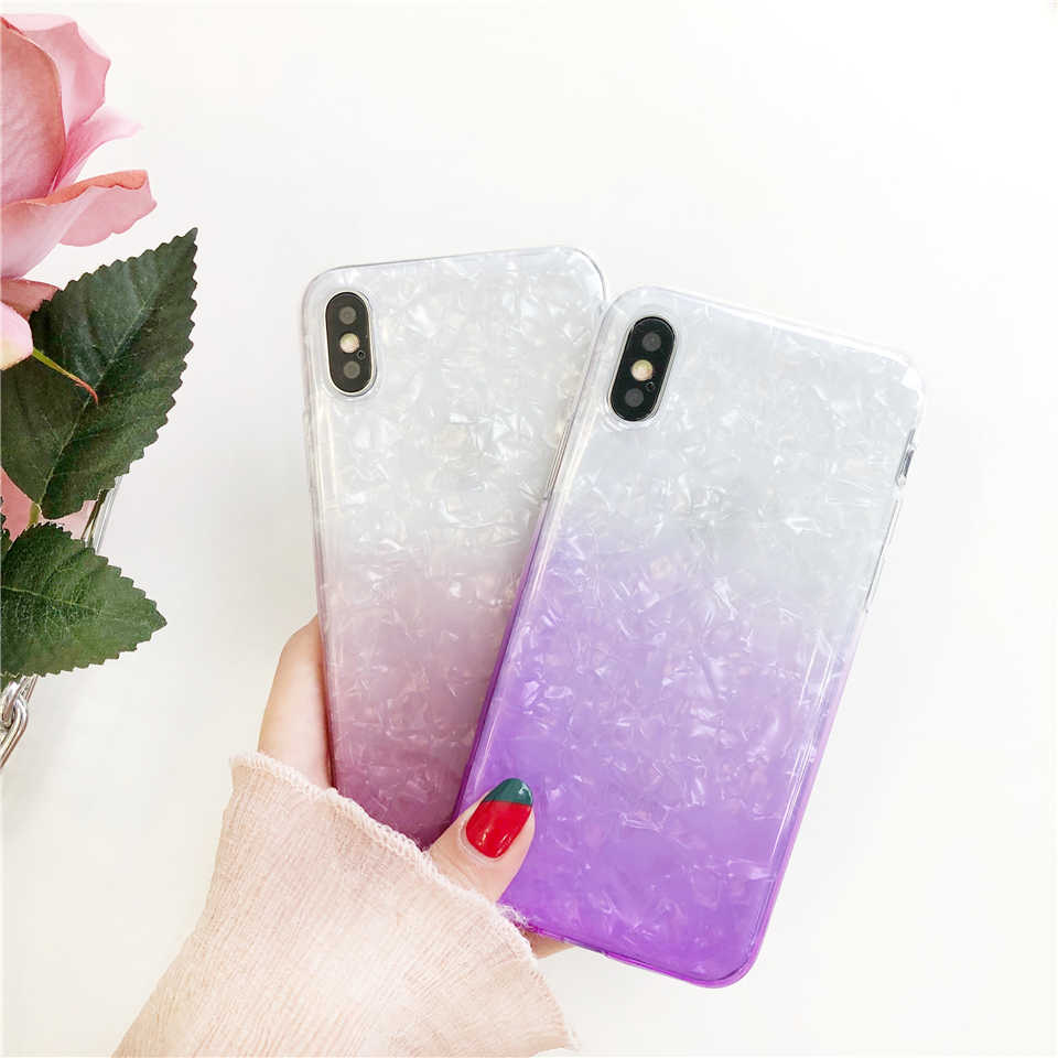Rainbow Marble TPU Phone Case For iphone XR XS MAX X 6 6s 7 8 Plus Silicone Funsas Meizu M3S M5 Note M5S M5C M6T OnePlus 5T