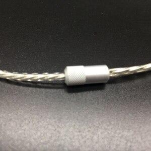 Image 4 - כבל שדרוג רך עבור Sennheets ie80 בציפוי כסף DIY עבור Shure SE535 SE215 אוזניות fone de אוזניות ouvido