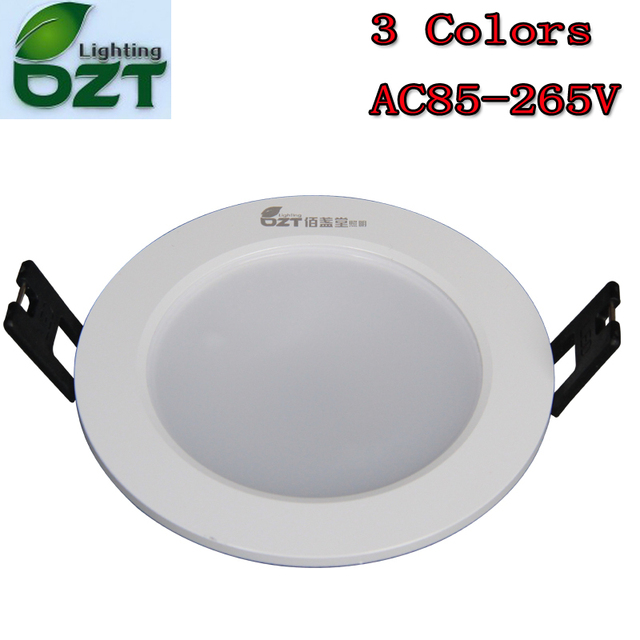 LED Downlight 3W 3 Colours Change Color White/Warm White/Yellow Down ...