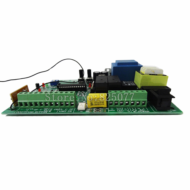 AC sliding gate opener control board with 2pcs remote control(not included battery),learning code gate opener controller KF270 input ac110v   sliding gate opener motor