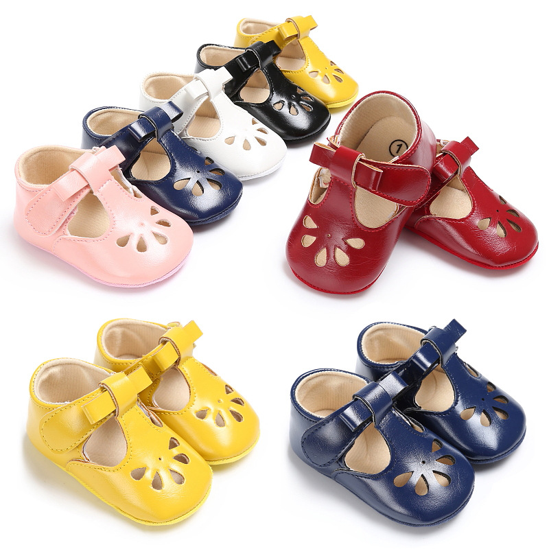 Bavoirsj Cute Short Cute Pink White Sun Flower Leather Baby Girls Shoes Comfortable for Baby Childrens Flats Toddler B1941