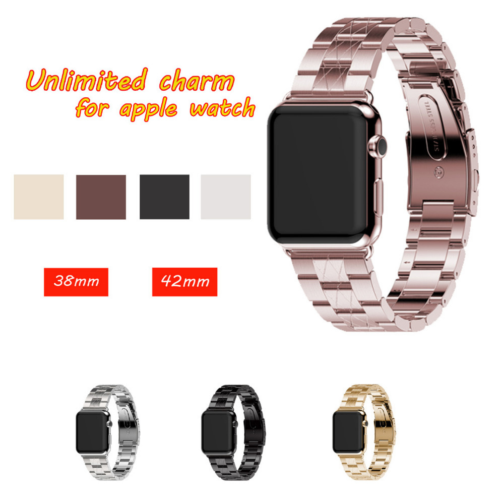 Stainless Steel watch band strap For Apple-Watch band 42mm 38mm for men & women metal Link Bracelet Watchbands For iWatch 3/2/1 new arrival diamond stainless steel band for apple watch band strap link bracelet 38mm 42mm smart watch metal band for iwatch