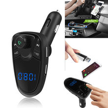 Bluetooth Auto MP3 Fm-zender Modulator Handsfree Car Kit Car Audio Speler Met 3.1A Quick Charge USB Car Charger # EEN(China)