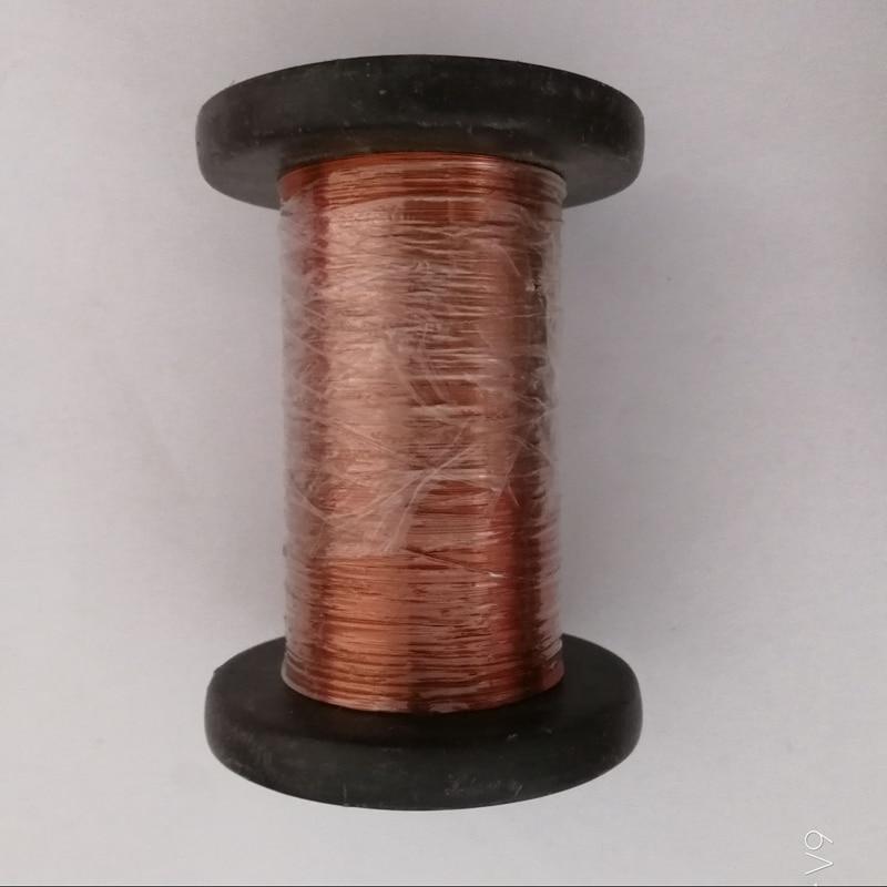 0.5mm 100m Cable de imán rojo Alambre de cobre esmaltado Bobina magnética Bobinado DIY Todos los tamaños en stock