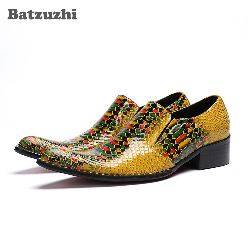 Punta Genuino 38 Los Oro Zapatos De Fiesta Vestir Hombres Y Cuero La Lujo  Hombre 46 Italiano Boda Batzuzhi qYW4SS 845637d17d5