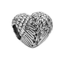 Bracelets Heart Shape Metal Beads Wings Feather Heart Charms Bracelets Beads For Pandora DIY Bracelets Accessory Women