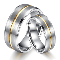 (2pcs/lot) Gold Color Tungsten Carbide Wedding Ring Comfort Fit Men Women Lover Couples Finger Ring Alliance Brand Jewelry