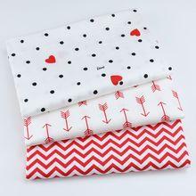 Tela de sarga de algodón para niños, tela acolchada de algodón para bebés de medio metro para DIY, Sábana de costura, confección de ropa, tela de algodón de 50*160cm