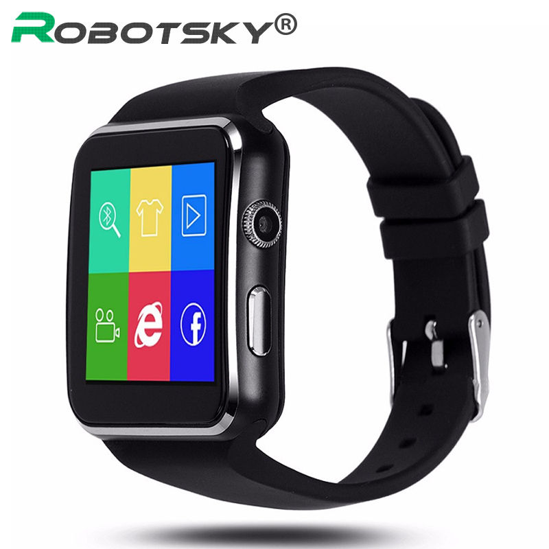 Bluetooth Smart Watch with Camera Sport Pedometer Watch Sleep monitor for Android Phone Whatsapp support SIM Card Smartwatch-in Smart Watches from ...
