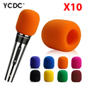 + Cheap Sale+Free Shipping + 10Pcs/lot microphone foam cover wind protective windscreen grill audio shield black