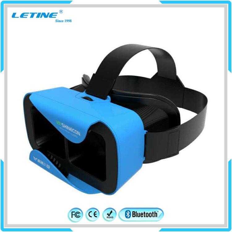 High Quality Google Cardboard 2 0 font b VR b font Shinecon Bluetooth Virtual Reality 3D