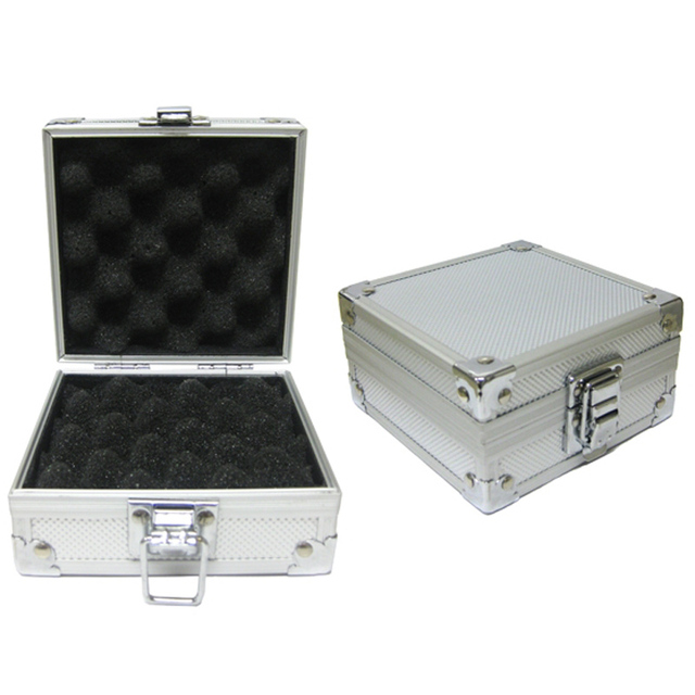 Tattoo Products Tool Boxes Aluminum Alloy Silver Tattoo Kits Case For Tattoo Machine Gun Permanent Makeup