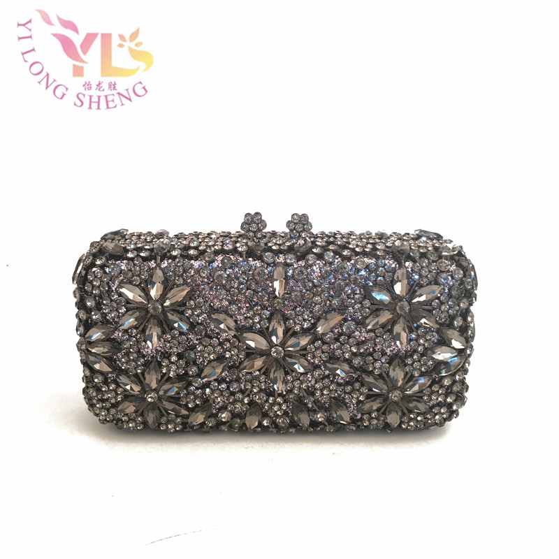 Women Vintage Evening Bags Purses Evening Bags Purses on AE Evening Bag Clutch Stones Crystal Glass Stone Bag Day Clutch YLS-F91 silver metal clutch bag with stone clutch evening bags women stylish and simple silver clutch bag yls how24