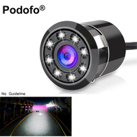 Waterproof Car Backup Camera HD Color CCD Imag Reverse Rear View Cameras With 8 LED Night