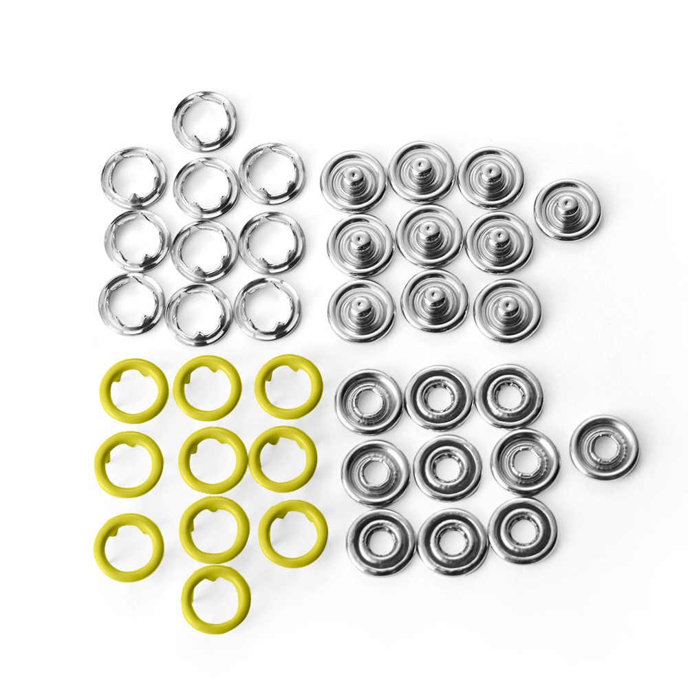 10 セット (40 個) 2020 DIY スクラップ 5 極バックルファスナープレスボタンスナップボタンベビー服縫製アクセサリー
