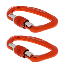 2 Pieces Screw Locking Karabiner 25KN Carabiner Rock Climbing Scaffolding Harness Lightweight Strong for Rescue Mountaineering 10 pieces oval steel carabiner screw locking for rock climbing rescue 25kn 2500kg