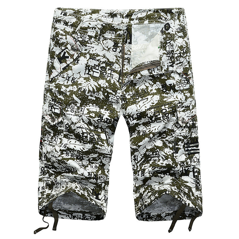 Military Cargo Shorts men clothes 2018 Brand New Army Camouflage Tactical Shorts Men Cotton printing Work Casual Short Pants
