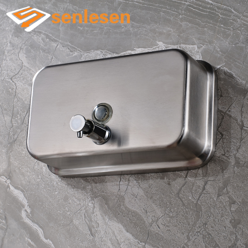 Free Shipping Nickel Brushed Wall Mounted Soap Dispenser for Liquid  Bathroom Accessories free shipping brass black liquid soap dispenser bathroom kitchen stainless steel touch soap dispenser wall mounted 1000ml