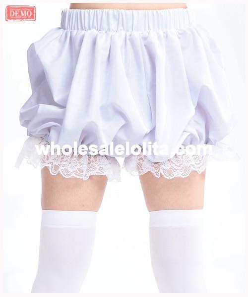 White Lolita Cute Women   Shorts   Lolita Bloomers Any Size